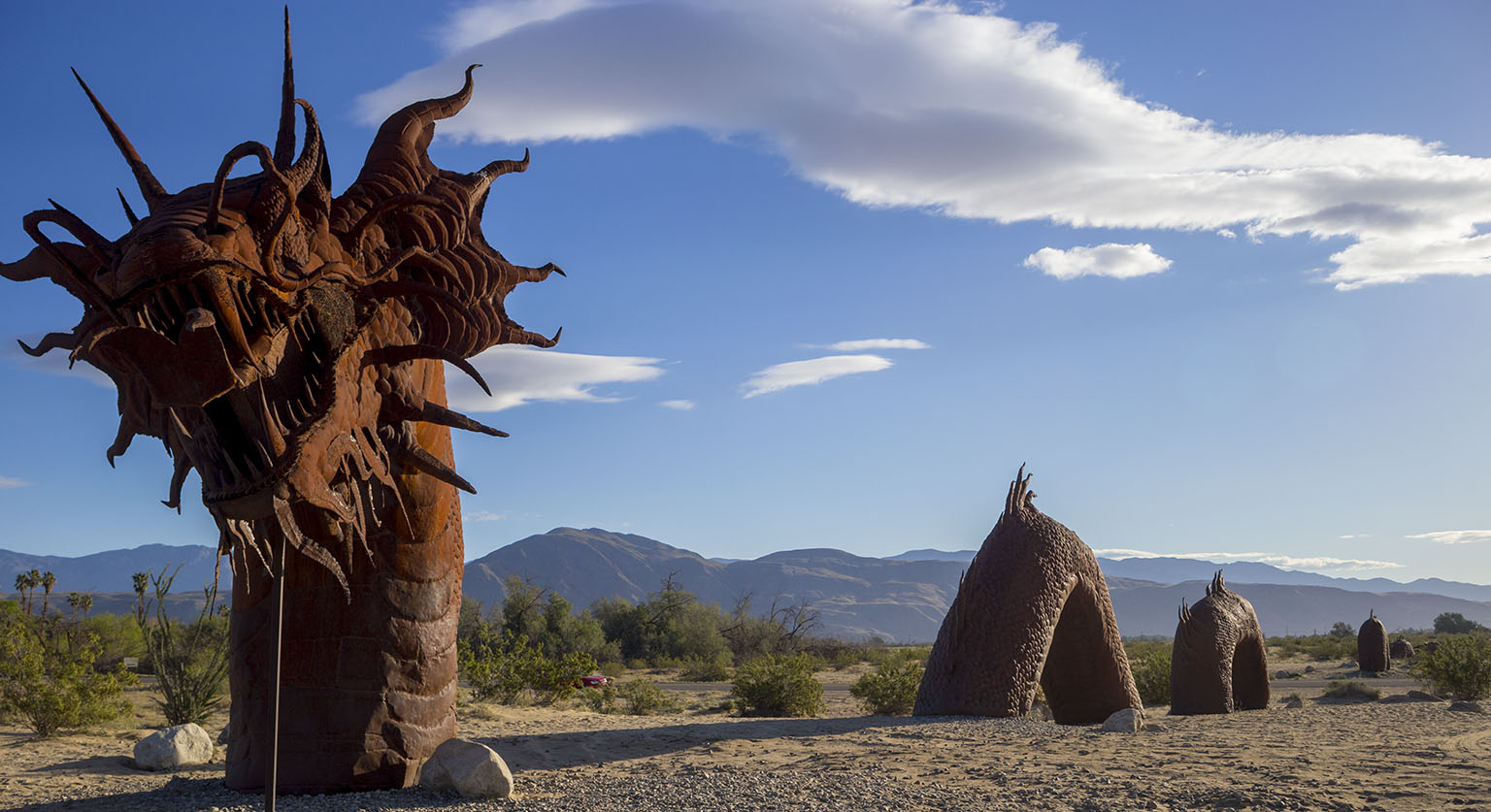 Serpent sculpture around Borrego Springs
