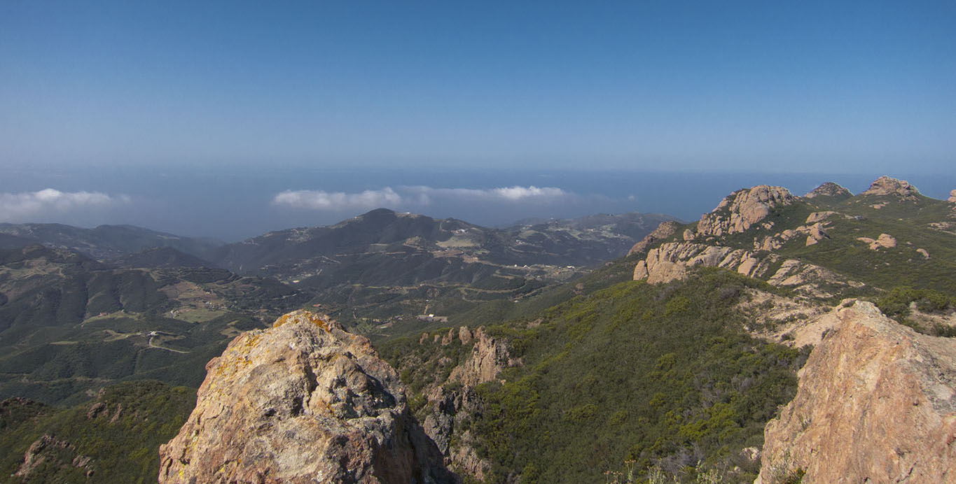 Finally, a clear view from Sandstone Peak