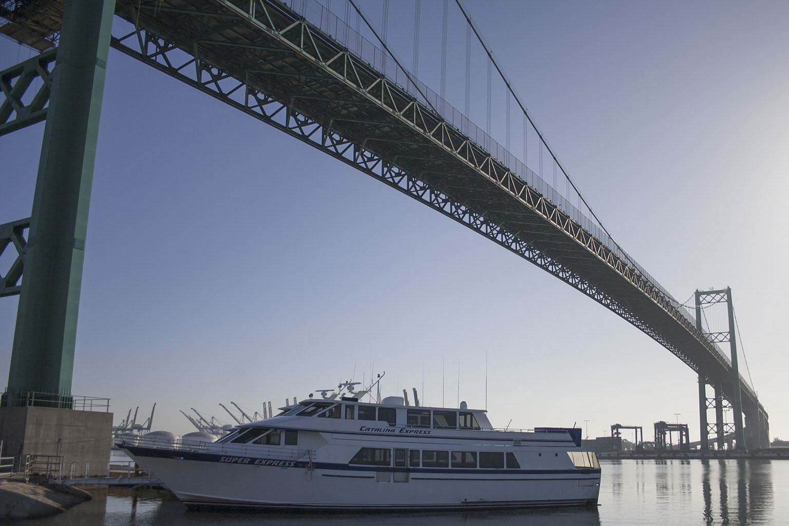 Catalina Express under the Vincent Thomas Bridge