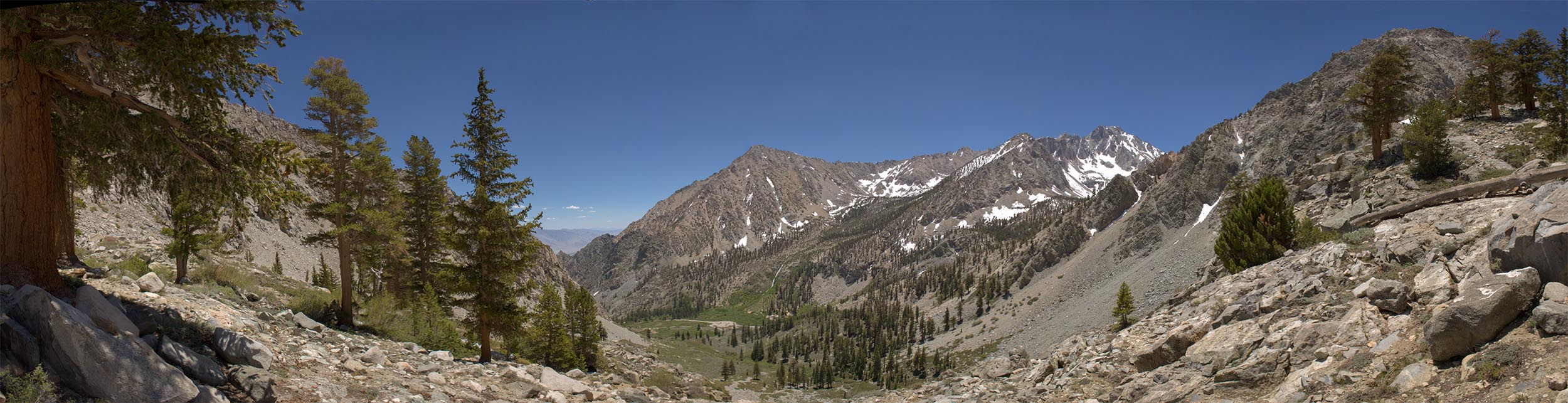Looking down into Onion Valley.