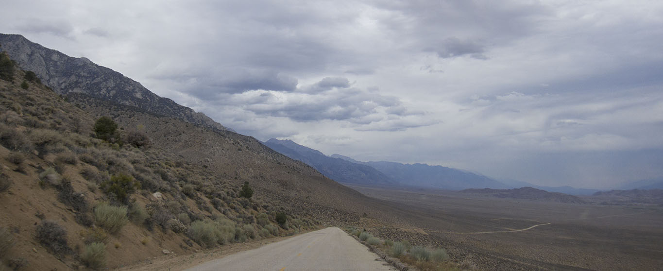 On Horseshoe Meadows Road down towards Alabama Hills and Lone Pine