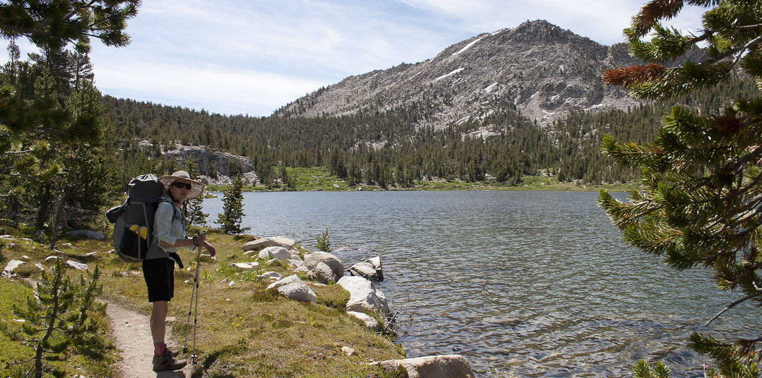 Em on the shores of Charlotte Lake