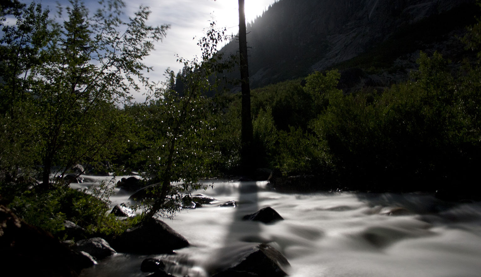 Bubbs Creek by moonlight
