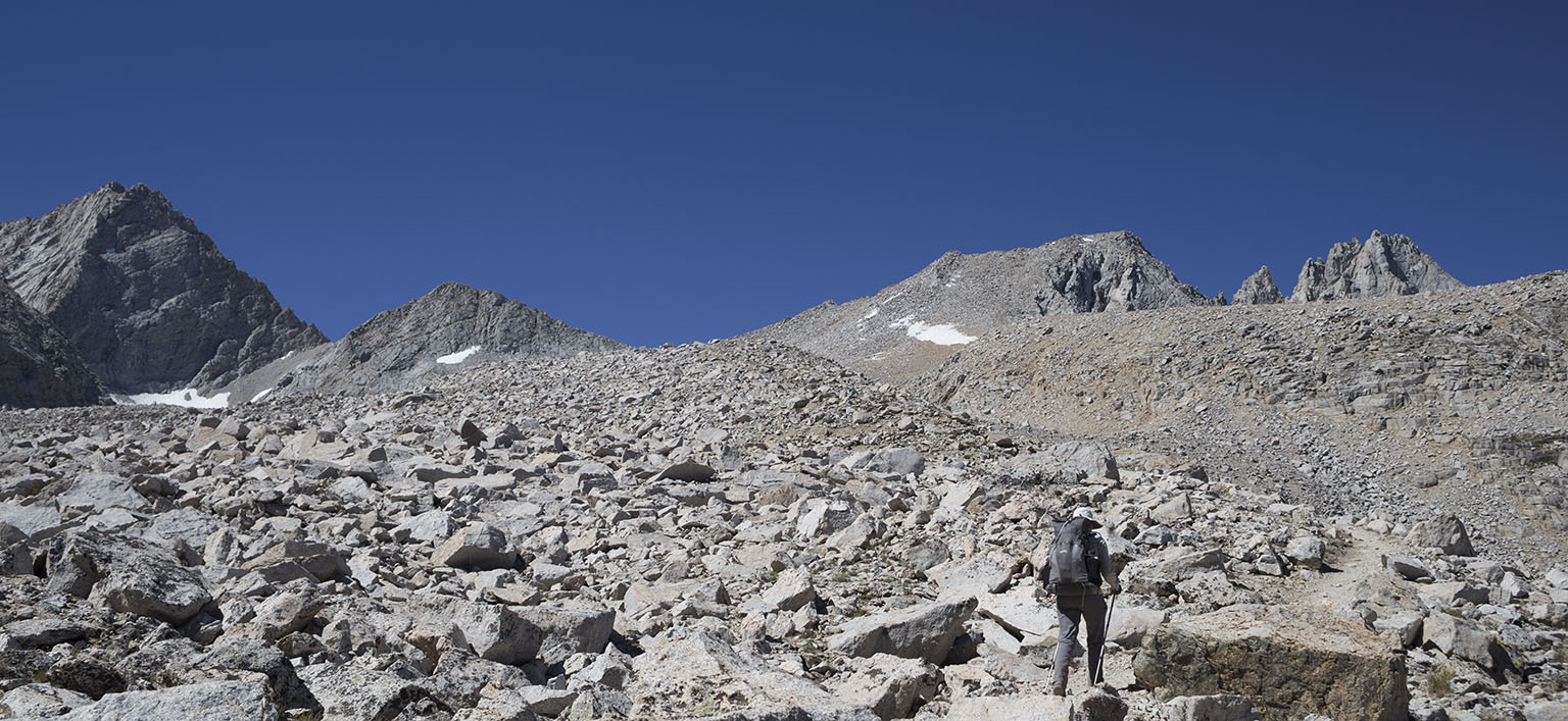 Walking toward Forester Pass
