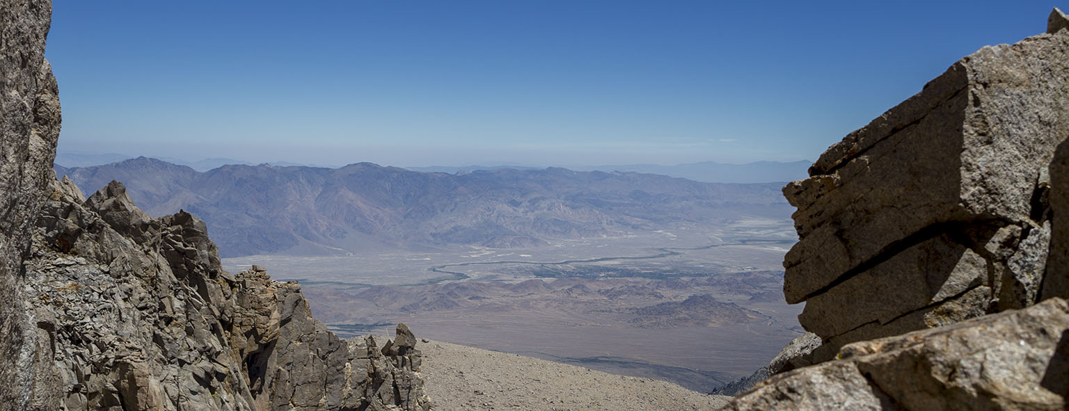 Looking out the window to the Owens Valley