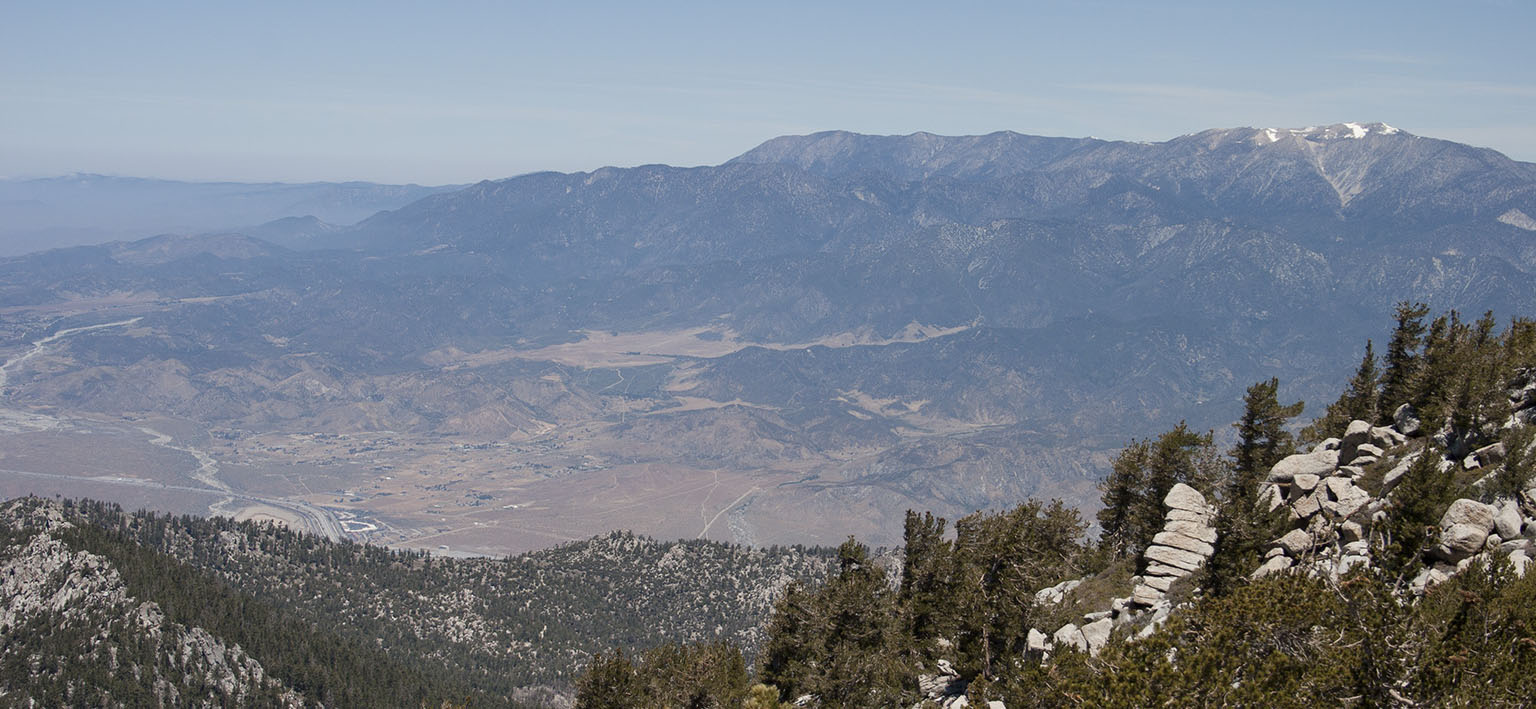 Mt. San Gorgonio and the valley from Mt. San Jacinto