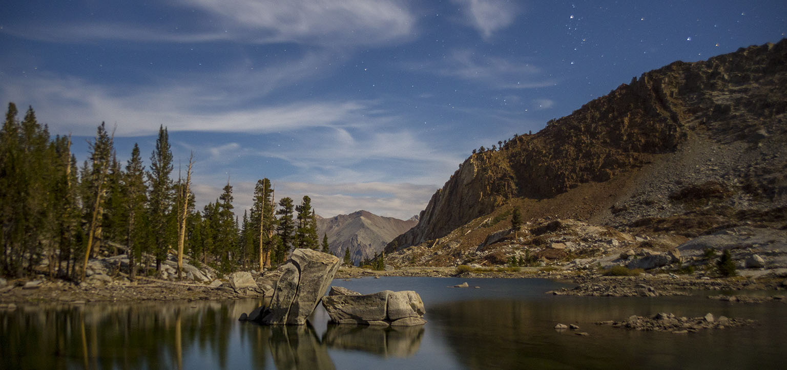Eagle Lake by moonlight