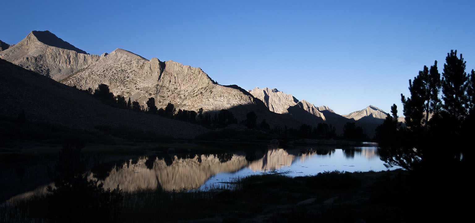 Lower Twin Lake just before sunset