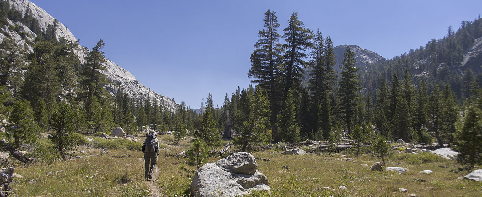 On Bear Valley trail, approaching the PCT