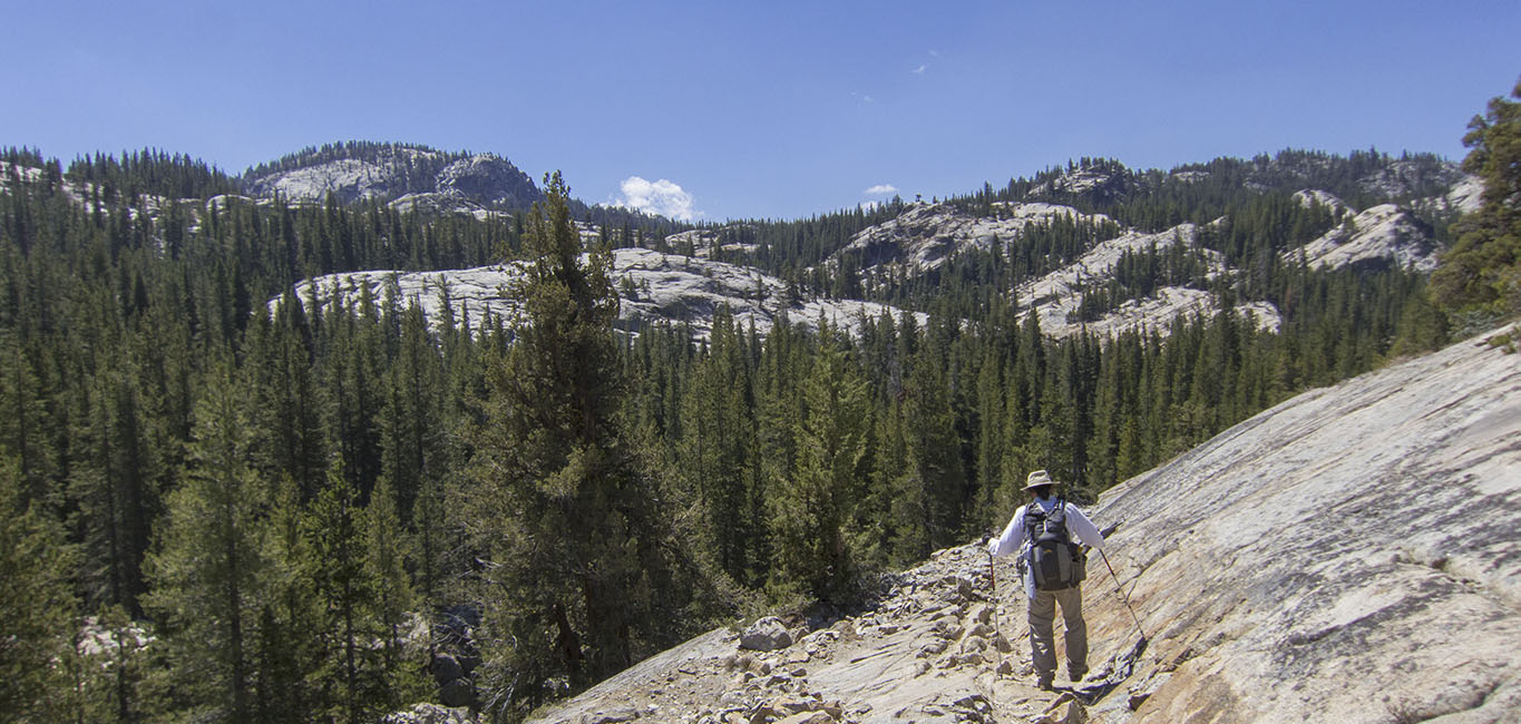 Down into the Grand Canyon of the Tuolumne to Glen Aulin