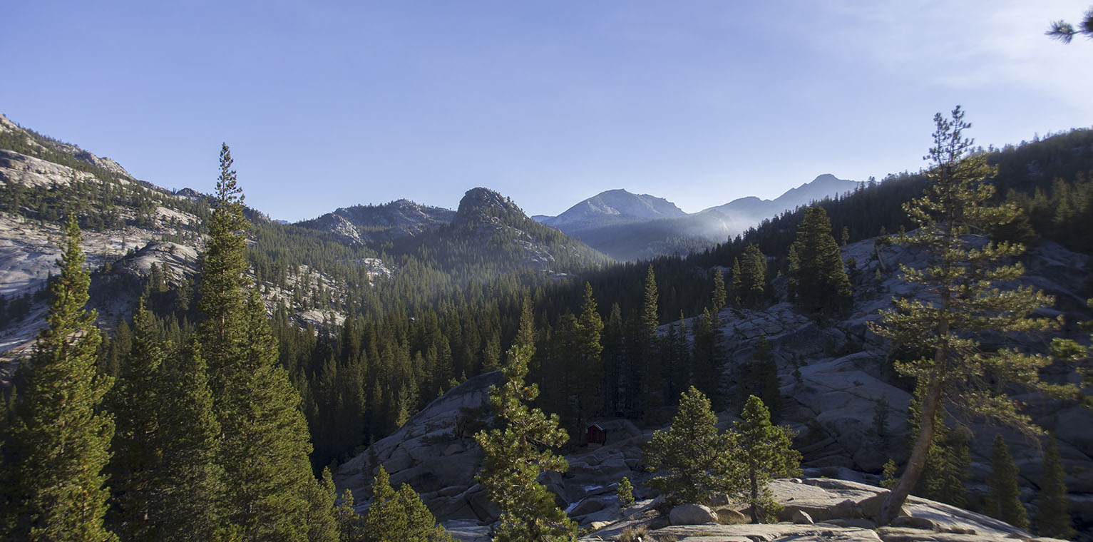Morning light above the Tuolumne River drainage