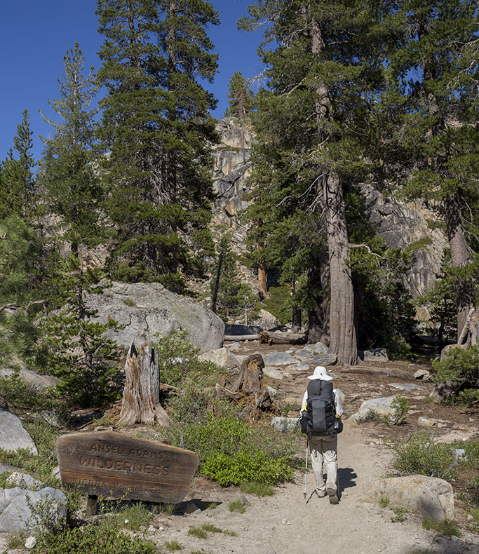 Entering the Ansel Adams Wilderness